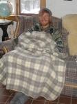 nate under blanket