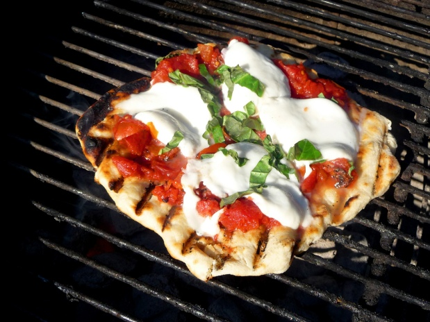Grilled Caprese Salad Pizza