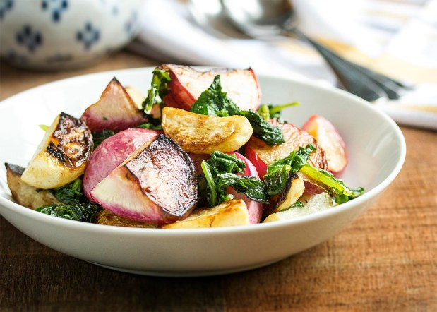 Roasted Hakurei Turnips and Radishes